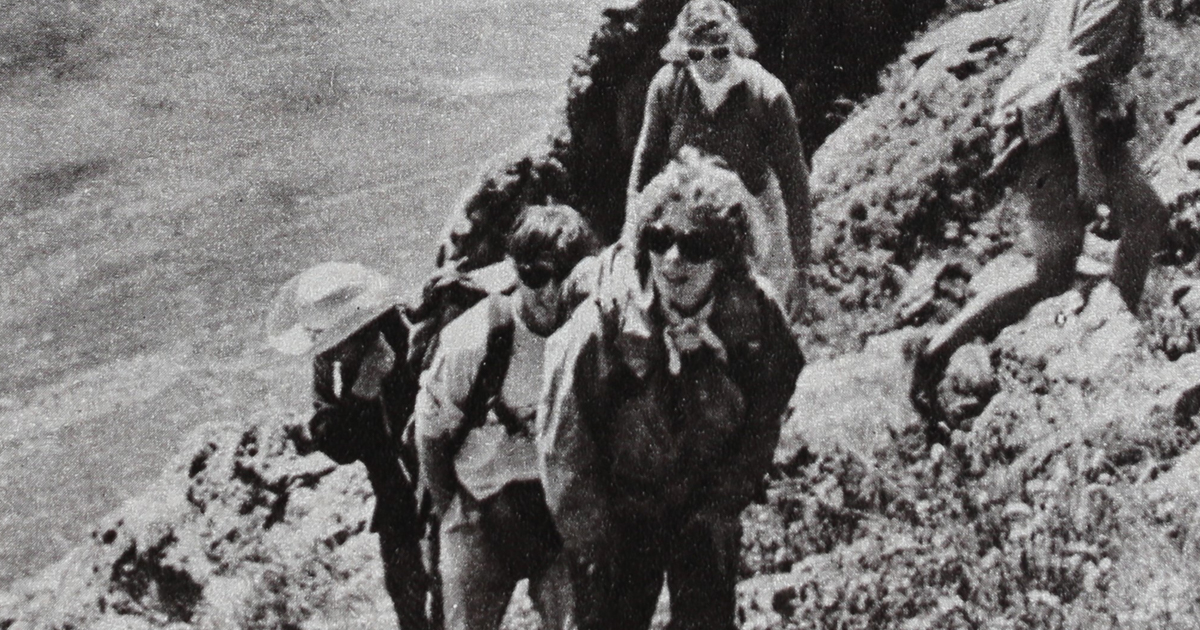 The first Soviet-American Women's Wilderness Dialogue in the Tien Shan Mountains in 1987.