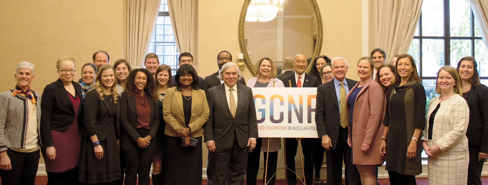 Inaugural class of Gender Champions at the launch of Gender Champions in Nuclear Policy in November 2018, Washington, DC