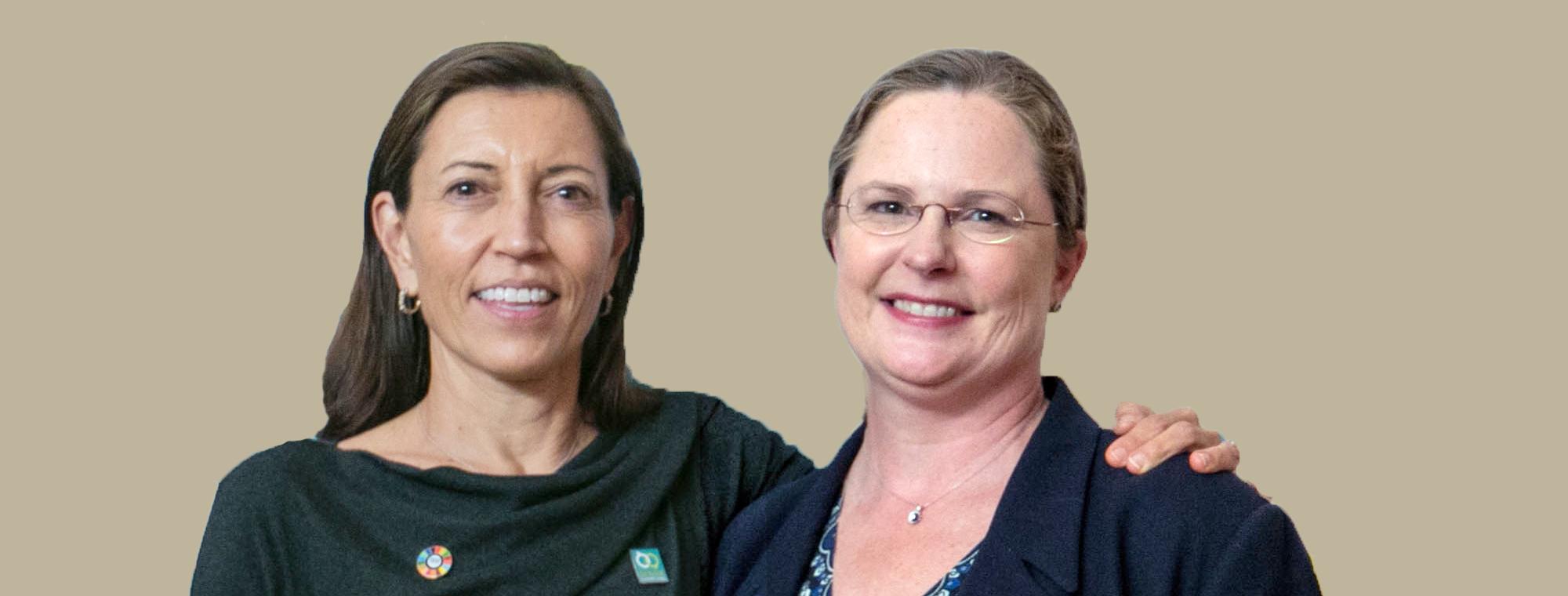 Pamela Hamamoto and Laura Holgate at IGC